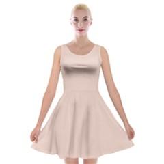 Trendy Basics   Trend Color Pale Dogwood Velvet Skater Dress