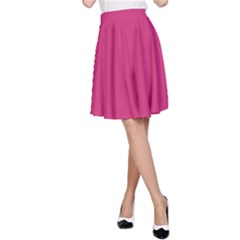 Trendy Basics   Trend Color Pink Yarrow A Line Skirt