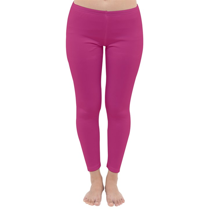 Trendy Basics - Trend Color PINK YARROW Classic Winter Leggings