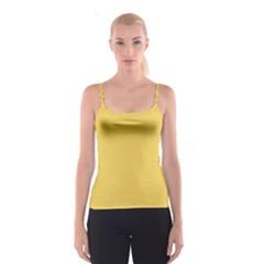 Trendy Basics - Trend Color PRIMEROSE YELLOW Spaghetti Strap Top