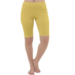 Trendy Basics - Trend Color PRIMEROSE YELLOW Cropped Leggings