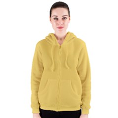 Trendy Basics - Trend Color PRIMEROSE YELLOW Women s Zipper Hoodie