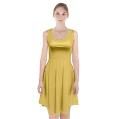 Trendy Basics   Trend Color Primerose Yellow Racerback Midi Dress