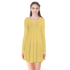 Trendy Basics   Trend Color Primerose Yellow Flare Dress