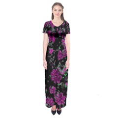 Floral Dreams 12 A Short Sleeve Maxi Dress