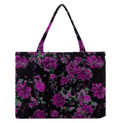 Floral Dreams 12 A Medium Zipper Tote Bag