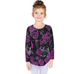 Floral Dreams 12 A Kids  Long Sleeve Tee