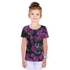 Floral Dreams 12 A Kids  One Piece Tee