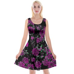 Floral Dreams 12 A Reversible Velvet Sleeveless Dress