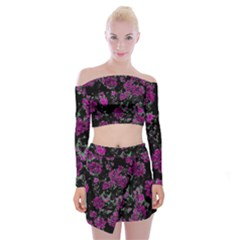 Floral Dreams 12 A Off Shoulder Top With Skirt Set