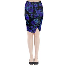 Floral Dreams 12 B Midi Wrap Pencil Skirt