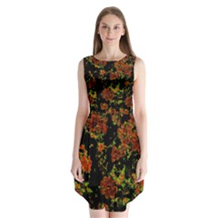 Floral Dreams 12 C Sleeveless Chiffon Dress