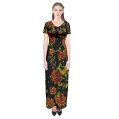 Floral Dreams 12 C Short Sleeve Maxi Dress