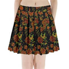 Floral Dreams 12 C Pleated Mini Skirt