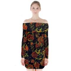 Floral Dreams 12 C Long Sleeve Off Shoulder Dress