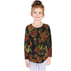Floral Dreams 12 C Kids  Long Sleeve Tee