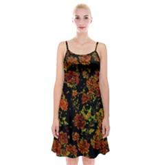 Floral Dreams 12 C Spaghetti Strap Velvet Dress
