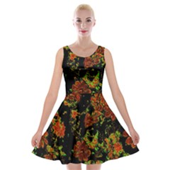 Floral Dreams 12 C Velvet Skater Dress