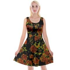 Floral Dreams 12 C Reversible Velvet Sleeveless Dress
