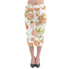 Floral Dreams 12 D Midi Pencil Skirt