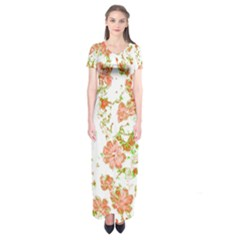 Floral Dreams 12 D Short Sleeve Maxi Dress