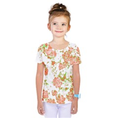 Floral Dreams 12 D Kids  One Piece Tee