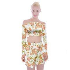 Floral Dreams 12 D Off Shoulder Top With Skirt Set
