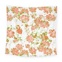 Floral Dreams 12 D Square Tapestry (large)
