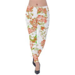 Floral Dreams 12 D Velvet Leggings