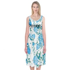 Floral Dreams 12 E Midi Sleeveless Dress