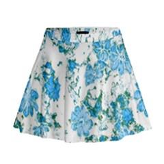 Floral Dreams 12 E Mini Flare Skirt