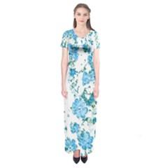 Floral Dreams 12 E Short Sleeve Maxi Dress