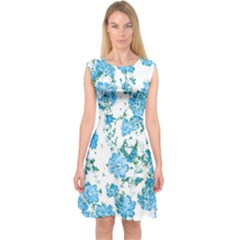 Floral Dreams 12 E Capsleeve Midi Dress
