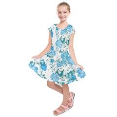 Floral Dreams 12 E Kids  Short Sleeve Dress