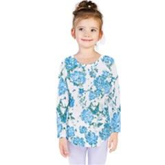 Floral Dreams 12 E Kids  Long Sleeve Tee