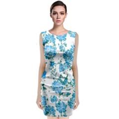 Floral Dreams 12 E Sleeveless Velvet Midi Dress