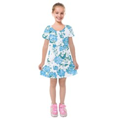 Floral Dreams 12 E Kids  Short Sleeve Velvet Dress