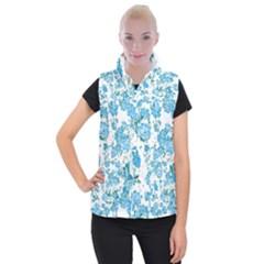 Floral Dreams 12 E Women s Button Up Puffer Vest