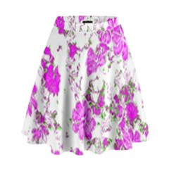 Floral Dreams 12 F High Waist Skirt