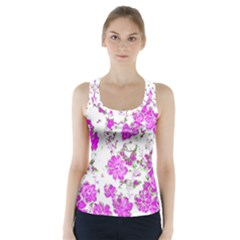 Floral Dreams 12 F Racer Back Sports Top