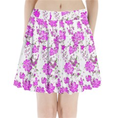 Floral Dreams 12 F Pleated Mini Skirt