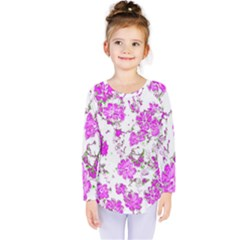 Floral Dreams 12 F Kids  Long Sleeve Tee