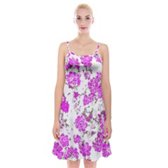 Floral Dreams 12 F Spaghetti Strap Velvet Dress