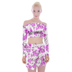 Floral Dreams 12 F Off Shoulder Top With Skirt Set
