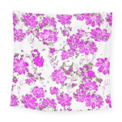 Floral Dreams 12 F Square Tapestry (large)