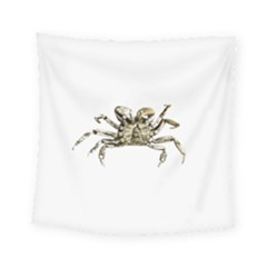 Dark Crab Photo Square Tapestry (small)
