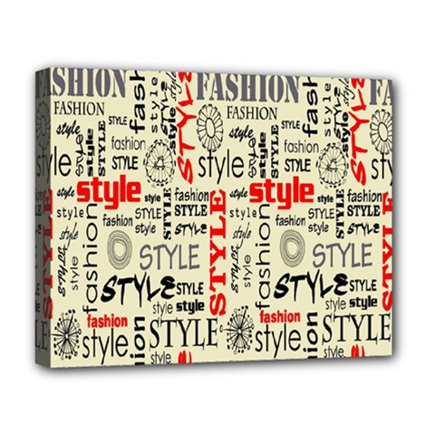 Backdrop Style With Texture And Typography Fashion Style Deluxe Canvas 20  x 16