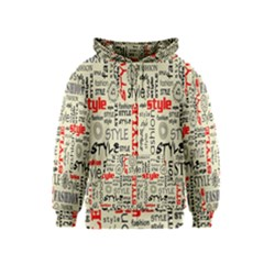 Backdrop Style With Texture And Typography Fashion Style Kids  Zipper Hoodie