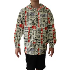 Backdrop Style With Texture And Typography Fashion Style Hooded Wind Breaker (Kids)
