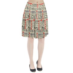 Backdrop Style With Texture And Typography Fashion Style Pleated Skirt